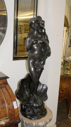 Italienisch Rokoko Bronze Siren Female Nude Figurine Fountain Statue