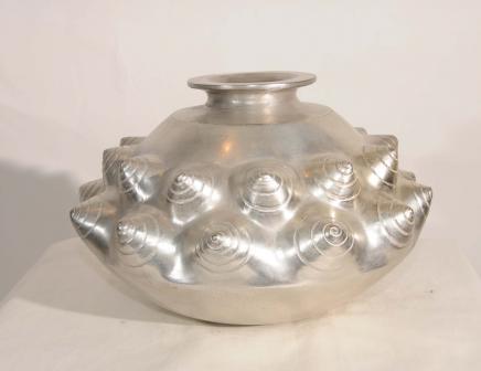 Silber Bronze Lalique Jugendstil Snail Bowl Dish Planter Urne
