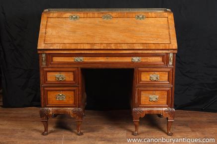 Antiken georgischen Mahagoni-Schreibtisch Bürotische Gentlemens