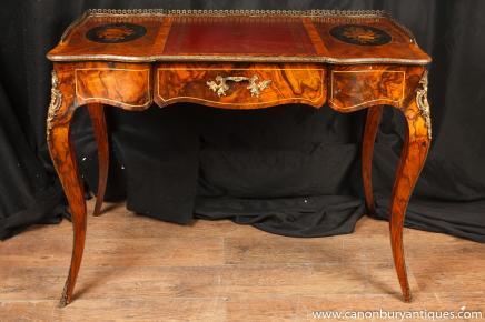 Antique Französisch Reich Schreibtisch Schreibtisch Bureau Plat Du Dame