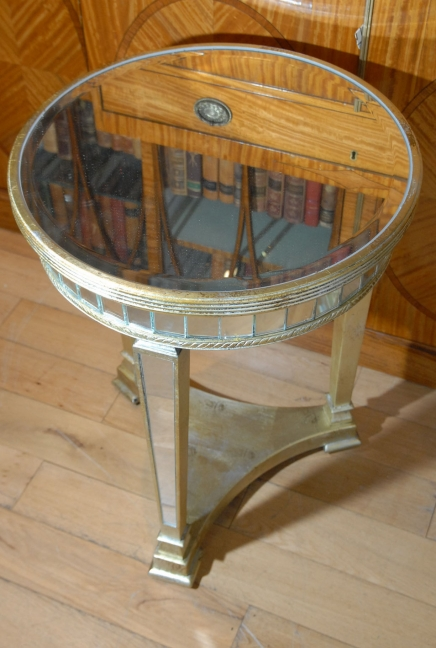 Art Deco Gespiegelte Beistelltisch Tische Spiegel Möbel