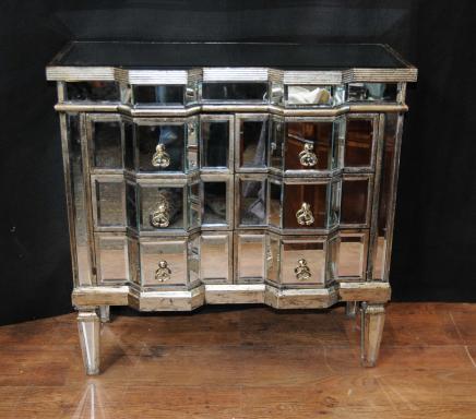 Art-Deco-Spiegel Kommode Schubladen Gespiegelte Möbel Kommoden Kabinett