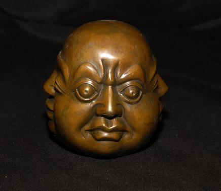 Bronze 4 Buddha Kopf Bronze Büste buddhistischen Osten