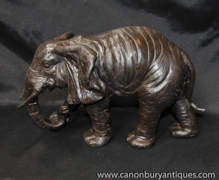 Bronze African Elephant Statue Casting Stammeskunst