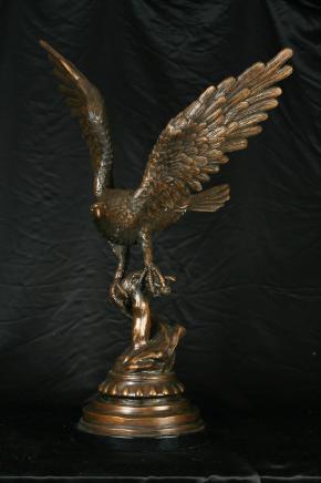 Bronze American Eagle Statue Casting Birds Prey