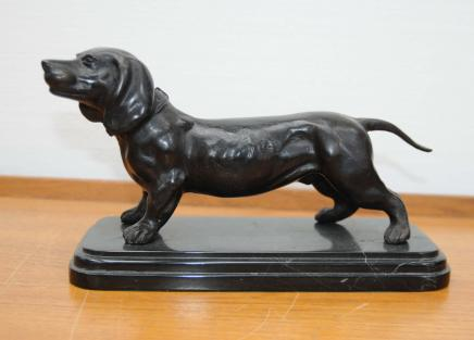 Bronze Dachshund Dackel Hunde Tiere Statue