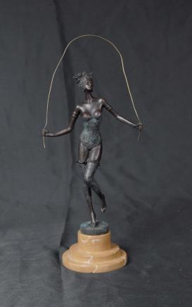 Bronze Deco Erotik Whiplash überspringen Figur von Milo