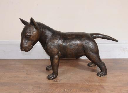 Bronze Englisch Bull Terrier Statue Lifesize