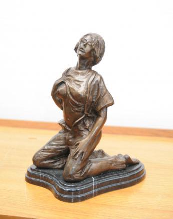 Bronze Erotische Frau Figur Statue Sexy Lady