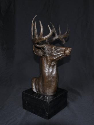 Bronze schottischen Hirsch Bust Stags Deer Elch Elk