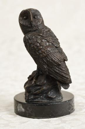 Bronzeguss Barn Owl Birds Tawny Eulen