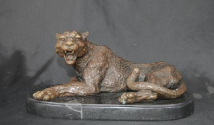 Deco Bronze Cat Leopard Panther Tiger Tiere