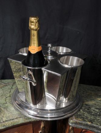 Englisch Silber Teller Wein Champagner-Kühler