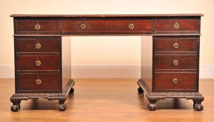 Englisch antike viktorianische Pedestal Desk Schreibtische Schreibtisch