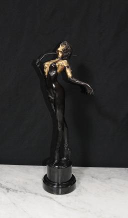 Französisch Bronze Dominatrix Lady Erotica Fräulein Whiplash Kunst
