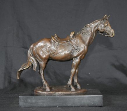 Französisch Bronze Horse Pony Statue Unterzeichnung Milo