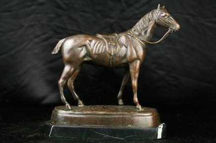 Französisch Bronze Horse Statue Pony Pferdereiter