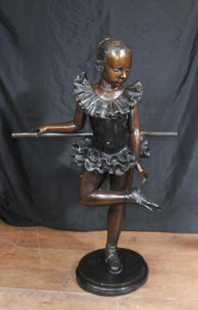 Französisch Bronze Statue Mädchen Ballerina Figurine Degas Ballett-Tänzer