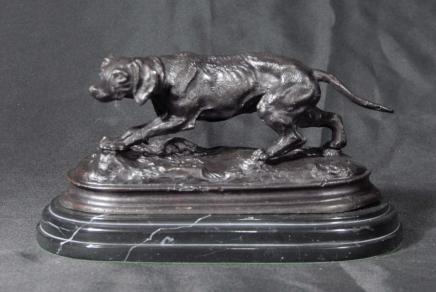 Französisch Bronzeguss Blutjagdhund Unterzeichnung Mene