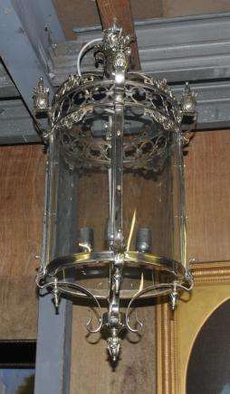 Französisch Silber Brass Lantern-Licht-Lampe Kronleuchter