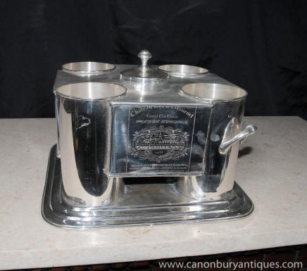 Französisch Silver Plate Weinkühler Eimer Champagner