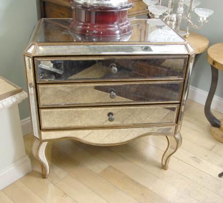 Gespiegelt Art Deco Kommode Schubladen Kommode Spiegel Möbel