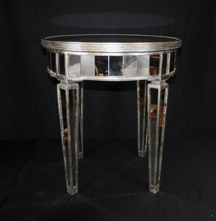 Gespiegelt Beistelltisch Art Deco Cocktail-Tisch Spiegel Möbel
