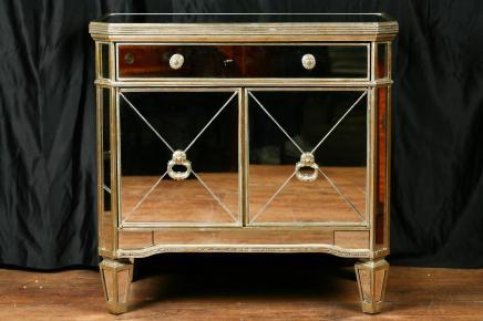 Gespiegelt Deco Kabinett Schrank Kommode Borghese Möbel