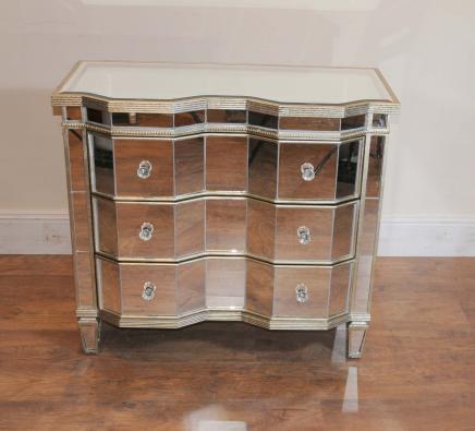Gespiegelt Kommoden Crinkle Art Deco Kabinett