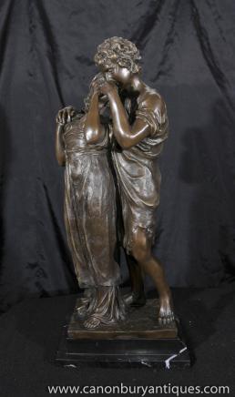 Italienisch Bronze Kissing Lovers Statue von Madrassi Figurine