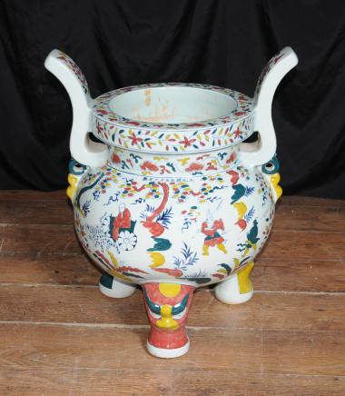 Japanische Porzellan Koro Burner buddhistischen Räucherstäbchen Buddhismus Bowl Vase Cauldron