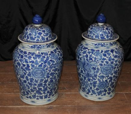 Kangxi chinesischen Porzellanvasen Keramik Ingwer-Gläser Urnen