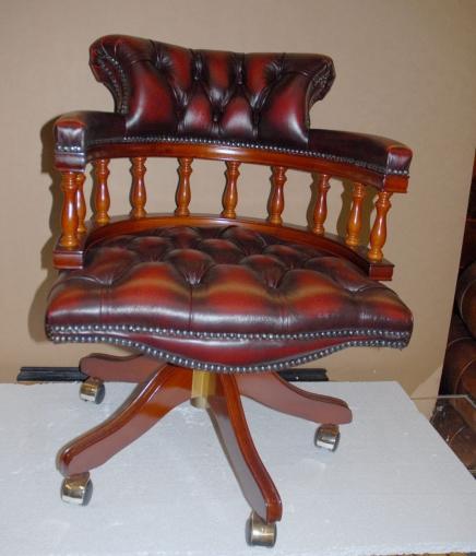 Leder Bürodrehsitz Captains Chair Desk