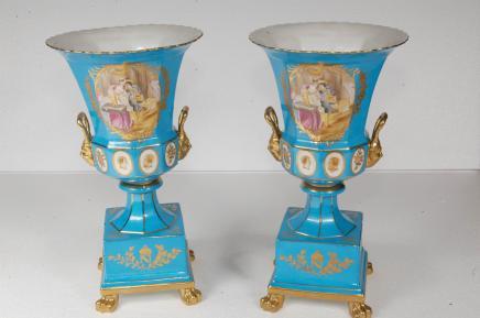 Limoges-Porzellan Campana Urnen Französisch Pottery