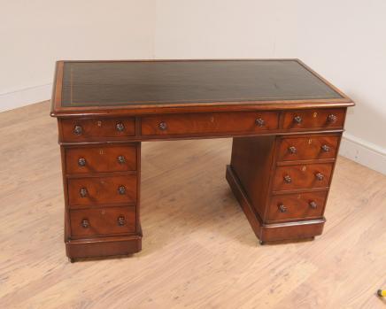 Mahagoni viktorianischen Stehpult Knieloch Schreibtische Schreibtisch
