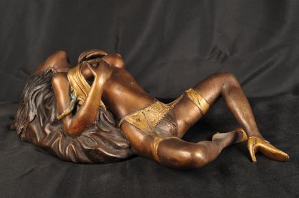 Naked Bronze Porno Mädchen Figurine Erotische Kunst Figurine