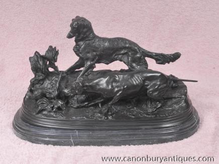 PJ Mene Bronze Statue Hund Fasanenjagd Hound Französisch Figurine