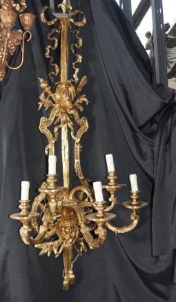 Paar Architektur Französisch Reich Lampen Ormolu Bronze