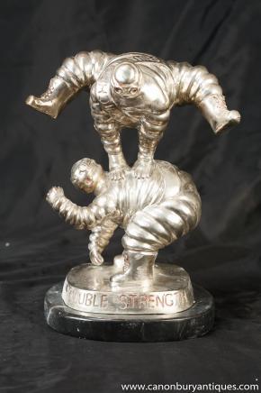 Paar Bronze Michelin-Männchen Bibendum Figur Statuen Casting
