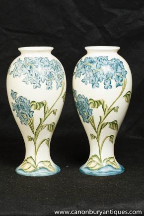 Paar Deutsch Porzellan Jugendstil-Vasen Meissen