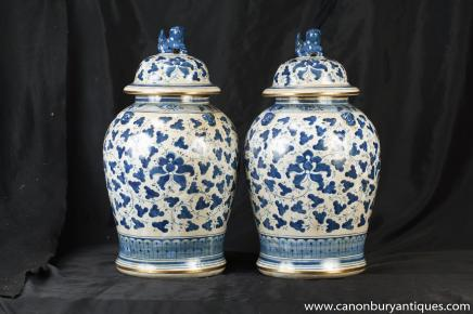 paar kangxi blau wei porzellan chinesischer ingwer gl ser deckel urnen. Black Bedroom Furniture Sets. Home Design Ideas