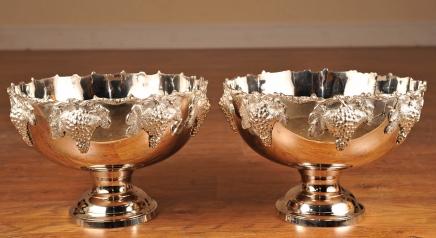 Champagne Buckets Wine Buckets  Silver Plate Wine Buckets