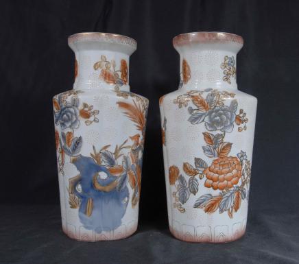 Paar japanische Arita Porzellan-Vasen Ware Urne