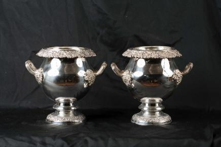 Paar viktorianischen Silver Plate Weinkühler Champagnerkühler
