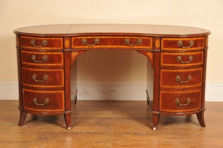 Regency Mahagoni Nieren Schreibtisch Schreibtische Möbel
