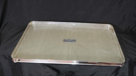 Silver Plate Shagreen Butlers Tray Platter