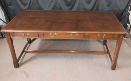 Walnut Regency Schreibtisch Tabelle Leder Top