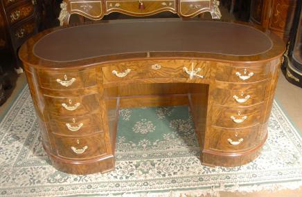 Walnut Victorian Kidneybohne Schreibtisch Schreibtische Möbel