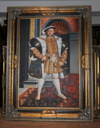 XL-Ölgemälde König Henry VIII 8. Acht englische Monarch Tudor Lizenz