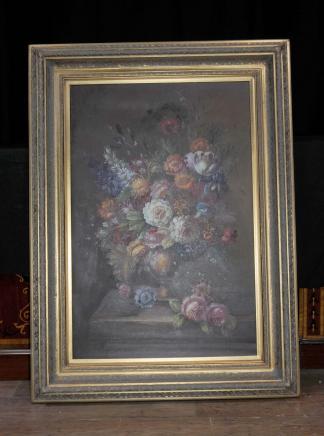 XL niederländischen Ölmalerei Blumen-Stillleben Gilt Frame Blumen